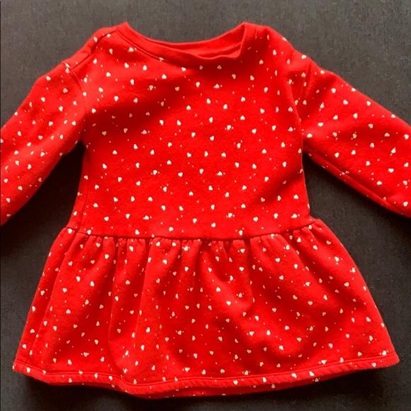 Baby gap red heart sweater dress